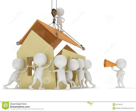 create a house 3d build a house stock illustration image 41133101