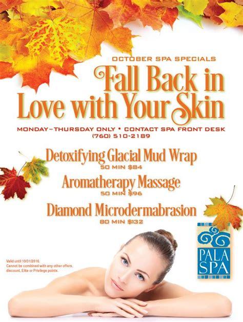 Paket October Special 18 october spa specials at pala spa palacasino spa