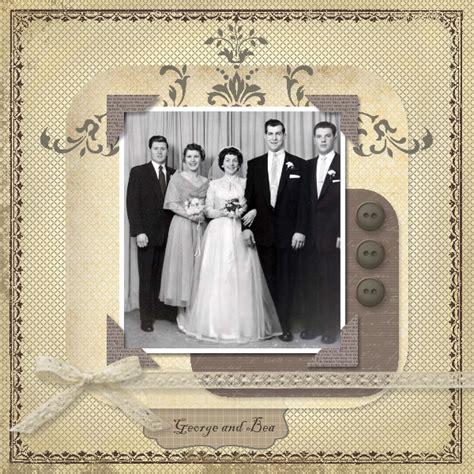 wedding layout pages milda s blog vintage heritage scrapbook layout of my
