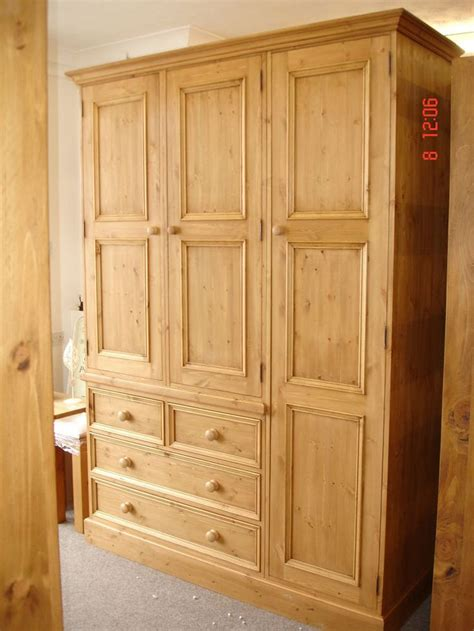 Handmade Wardrobes by Solid Pine Large 3 Door Handmade Waxed Wardrobe Jali Handmade Bespoke Wardrobes And