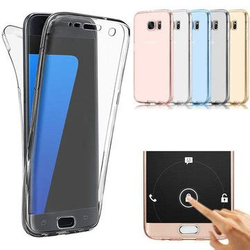Samsung Galaxy S7 Edge Imak Back Cover Casing 360 176 front and back protective tpu clear cover for samsung galaxy s7 edge sale banggood