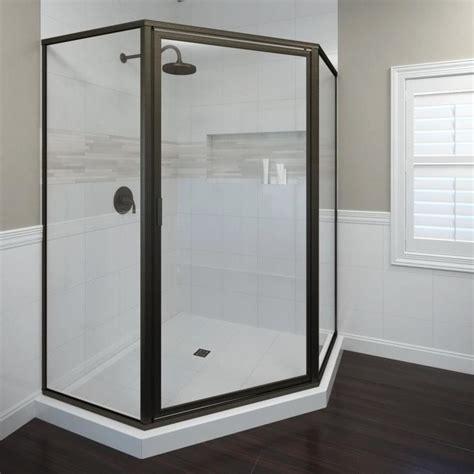 Rubbed Bronze Shower Doors shop basco framed rubbed bronze shower door at lowes