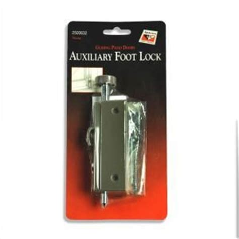 Sliding Patio Door Foot Lock The World S Catalog Of Ideas