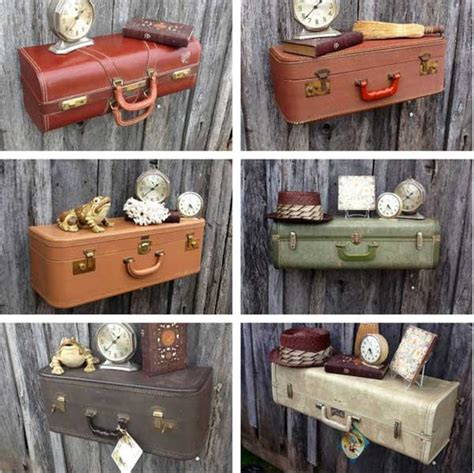How To Make A Suitcase Shelf by 30 Fabulous Diy Decorating Ideas With Repurposed
