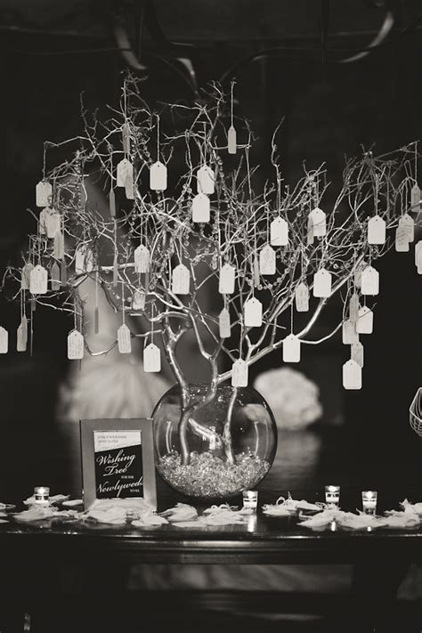 hanging wishing tree could be centerpiece on table