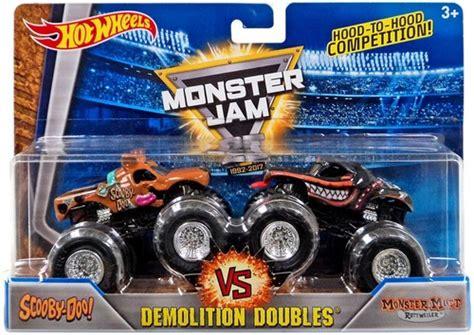 scooby doo monster jam truck toy wheels monster jam 25 demolition doubles scooby doo vs