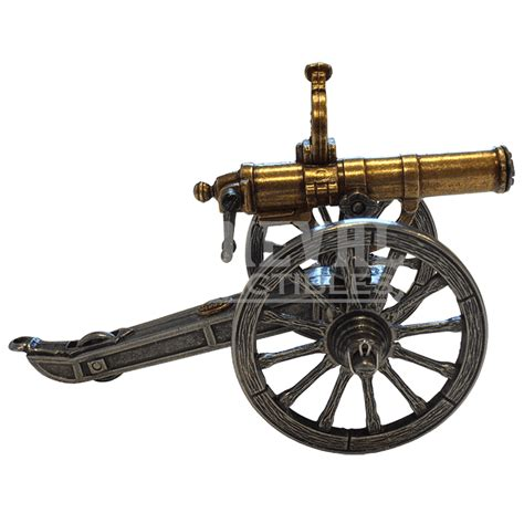 Gasing Cannon 1861 miniature civil war gatling gun fd421 from collectables