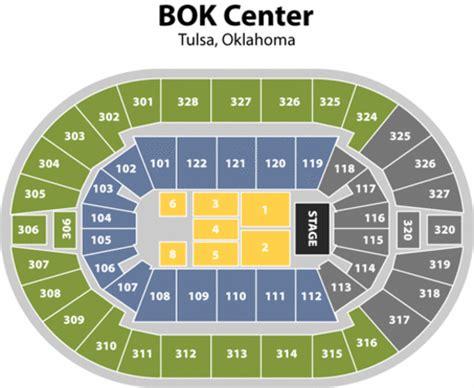 bok center tulsa seating chart bok center seating chart vipseats bok center tickets