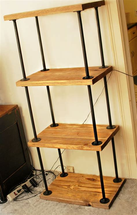 bookcase from plumbing pipe and flanges for my