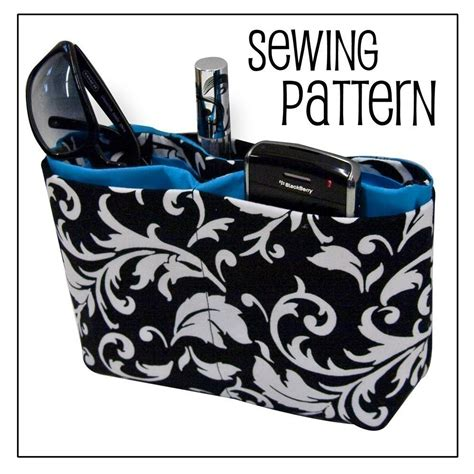 tote bag organizer pattern purse organizer pdf sewing pattern by the crochet diva