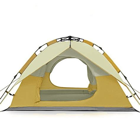 tent bathtub floor fivejoy instant 3 person 3 season dome tent double wall