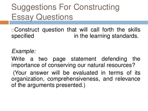Essay Question Exles by Exles Of Essay Questions Mfacourses887 Web Fc2