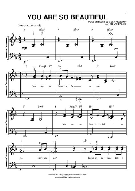 tutorial piano you are so beautiful you are so beautiful sheet music music for piano and
