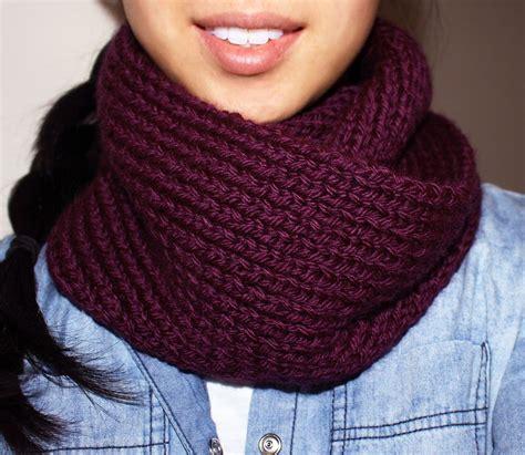 knitting pattern scarf 4mm needles purllin acai infinity circle scarf free knitting pattern