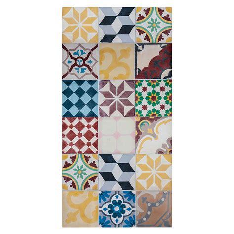 alfombra vinilica diseno mosaico vintage ref  leroy merlin