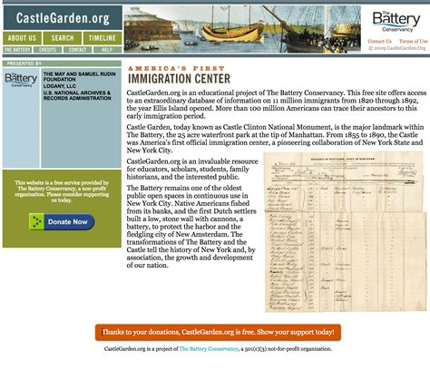 Records Usa Free Castle Garden Free Us Immigration Records Ongenealogy