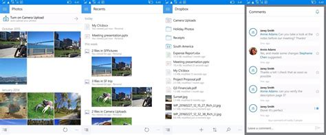 dropbox for windows mobile dropbox updated for windows 10 mobile with advanced