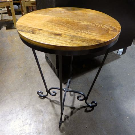 iron and wood side table iron and wood side table nadeau chicago