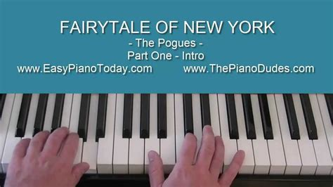 Tutorial Piano New York | fairytale of new york piano tutorial pt 1 the pogues