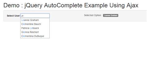tutorial jquery autocomplete simple exle of jquery autocomplete js tutorials