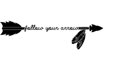 follow you arrow soft cursive feathers photoshop