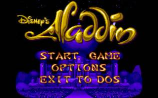Aladdin old ms dos games download for free or play in windows