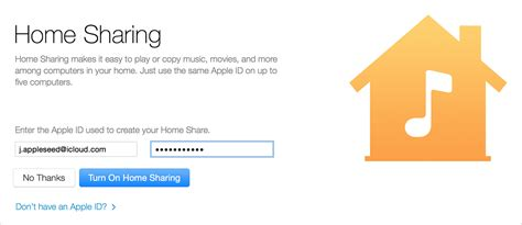 use home to itunes content with other