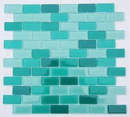 light sea green mix subway glass mosaic tile for bathroom