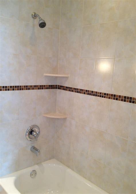 bathroom wall tile installation 8x12 ceramic shower wall tile installation with a 1x1