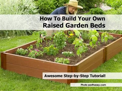 How To Build A Raised Garden Bed With Sleepers by How To Build Your Own Raised Garden Beds