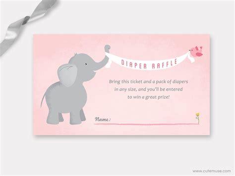 printable diaper raffle tickets elephant elephant diaper raffle ticket printable from cute muse