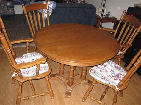 Maple Dining Room Set Used Solid Maple Colonial Kitchen Dining Room Set Nanaimo