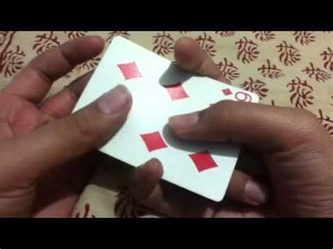 make a card disappear how to make a card disappear using only your