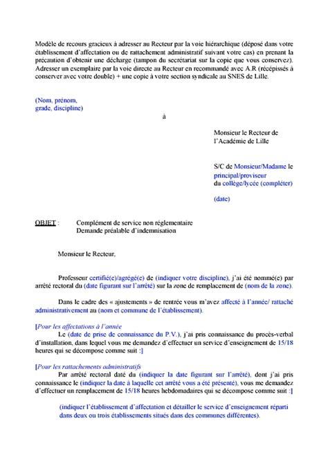 Exemple De Lettre En Recours Gracieux Site Du Snes De Lille