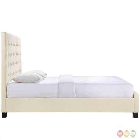 full platform bed with headboard skye modern upholstered full platform bed with tall