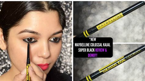 Maybelline Kajal new maybelline colossal kajal black review swatch