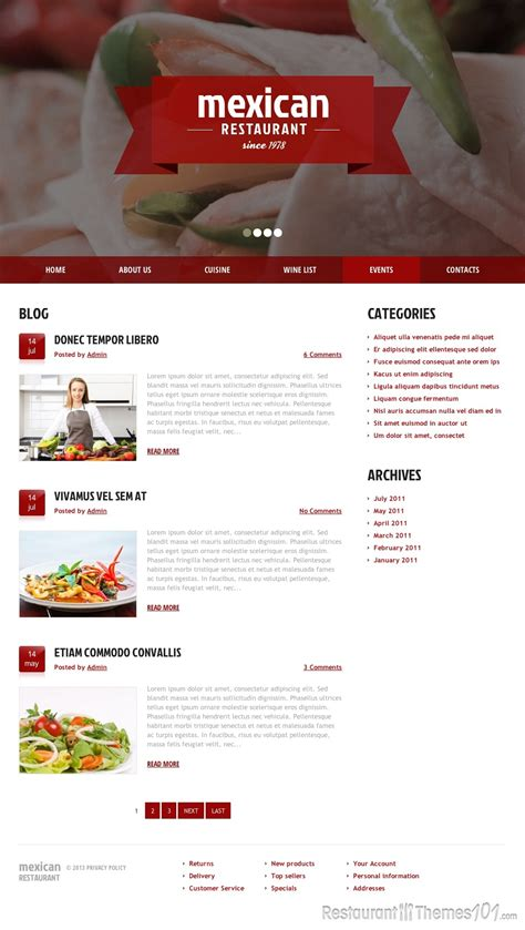 mexican restaurant review a wordpress restaurant theme by