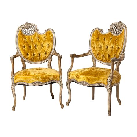 french style armchairs pair vintage on antique row
