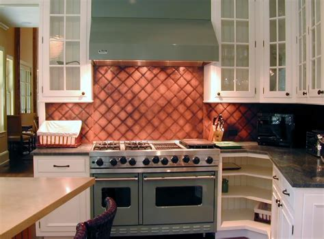 Patina Copper Backsplash by Copper Backsplashes Custom
