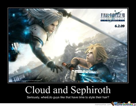 Cloud Meme - cloud and sephiroth by letholdusofblackrain meme center