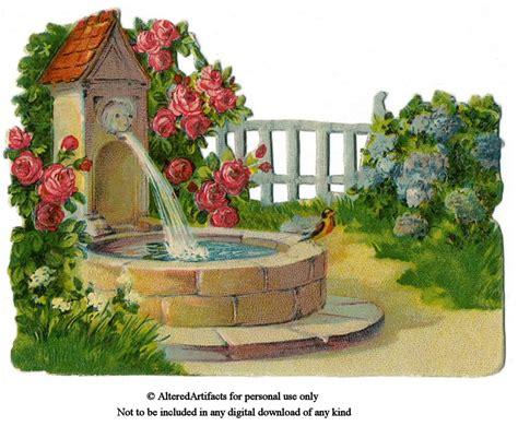 garden fountain clipart clipground