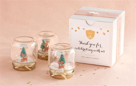 Globe Giveaways - how to mini snow globe favors evermine blog