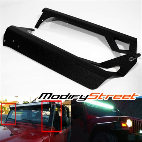 For 97 06 Jeep Wrangler Tj 50 Quot Led Light Bar Steel Upper 50 Led Light Bar Jeep