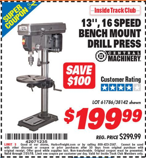 harbor freight bench press harbor freight tools coupon database free coupons 25 percent off coupons toolbox coupons
