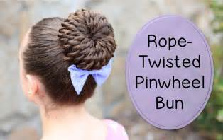 Rope twist pinwheel bun prom hairstyles cute girls hairstyles