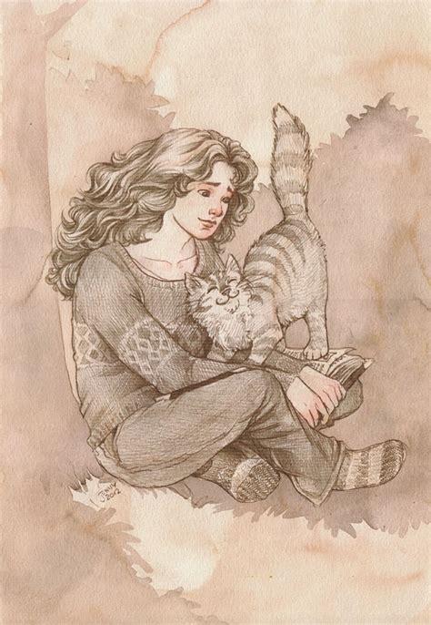 harry potter coloring pages crookshanks hermione and crookshanks 2012 dolfen s