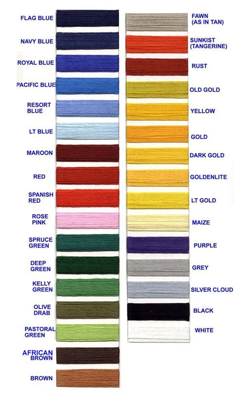 unique color names thread color chart with names dmc embroidery floss color