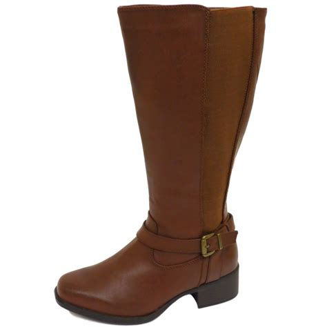 wide biker boots ladies tan ex evans extra eee wide fit biker knee calf