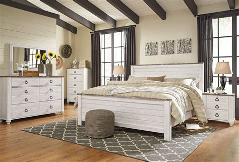 whitewash bedroom furniture willowton whitewash panel bedroom set b267 54 57 98 ashley