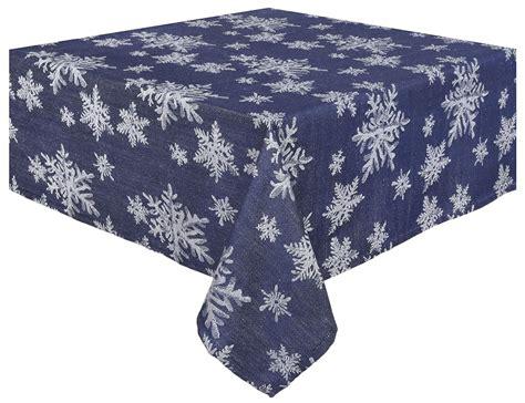 snowflake pattern tablecloth snowflake tablecloths christmas wikii